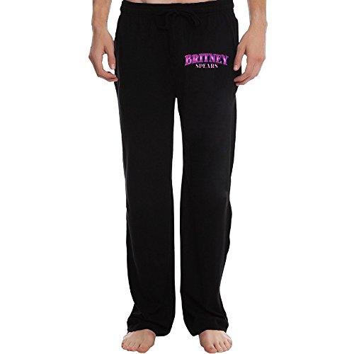 EVALY Men's Famous Singer Pink Logo Funny Home Wear Black Size XL (Juicer Singer)