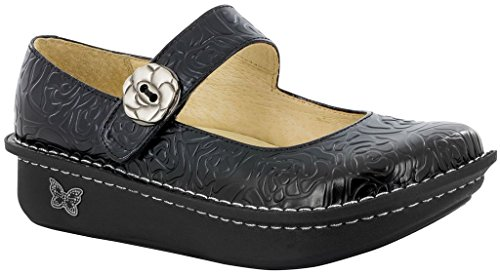 Rose Dominguez Embossed Paloma Black Alegria Women's Flat Adolfo zwY0qxz