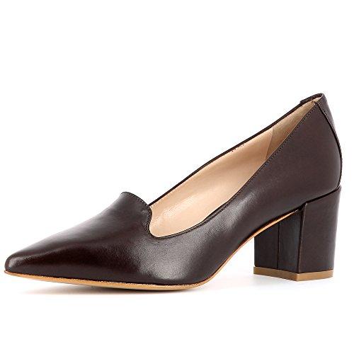 marrón Mujer Shoes Cerrado Evita oscuro Romina wxq1ITWaP