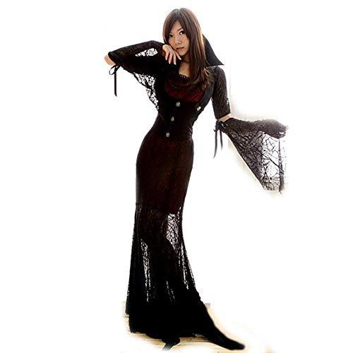 Halloween Shisky De Fiesta Bruja Disfraces Cos Cosplay Demonio Vestido Traje Maxi xTq4CTF1