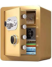 MDHDGAO Safety Box High Security Steel Lock Safes Home Office Black Mechanical Password Safes Money Cash Storage Box (Gold) (Size : 45cm)