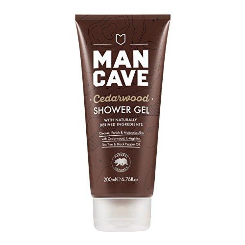 ManCave Natural Cedarwood Shower Gel 200ml - Cedar Forest Gel