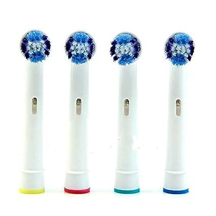 Ociodual 4 Recambios Compatibles para Cepillo de Dientes Oral B Precision Clean SB-20A