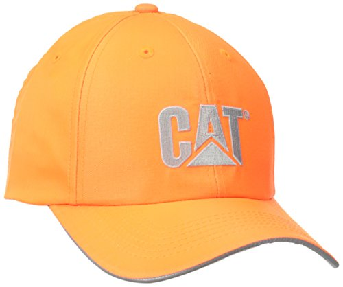 Caterpillar Men's Hi-Vis Trademark Cap, Orange, One Size