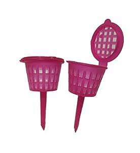 50pcs. Mejor fertilizantes cesta para jardín flores Osmocote Planta Maceta color rojo tamaño M