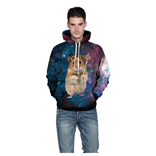 Unisex's Pullover Hoodies, BXzhiri Couple Casual Scary Halloween Sweatshirt Lover 3D Print Party Long Sleeve Hoodie Top