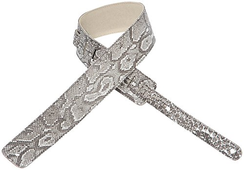Levy's M1APY-XL Snake/Python Skin Gray/White Guitar/Bass Strap - Extra Long
