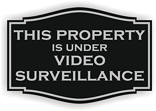 this-property-is-under-video-surveillance-sign-6-x-9-black-with-silver-