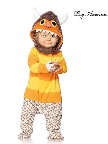 Leg Avenue Baby's Where The Wild Things Are Carol Costume, Brown/Orange, 12-18 Months (2)