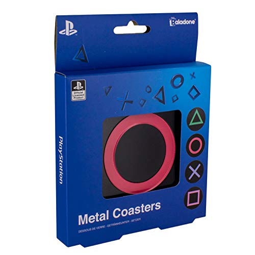 Paladone Playstation Metal Drink Coasters