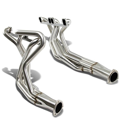 1996 Dodge Dakota Headers (For Dodge Small Block V8 2x4-1 Design Stainless Steel Exhaust Header Kit (Polished Chrome) Chrysler LA Magnum)