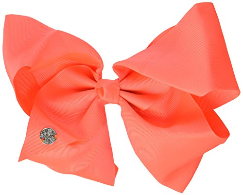 JoJo Siwa Signature Collection Large Cheer Hair Bow (Neon Coral) -