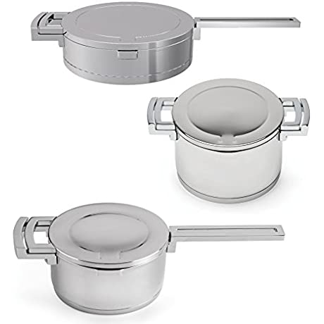 BergHOFF Neo 6 Piece Stainless Steel Cookware Set Silver