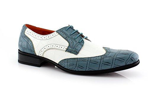[Ferro CARL M109185 (10 D(M) US, Blue)] (Gangster Shoes)