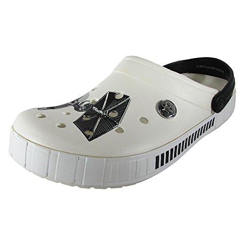 crocs Men's 16198 Star Wars Stormtrooper Mule,White/Black,11 M US