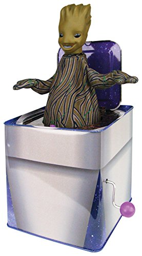 Jumping Jack Collectible - Bif Bang Pow! Guardians of The Galaxy Classic Groot Jack in The Box Action Figure