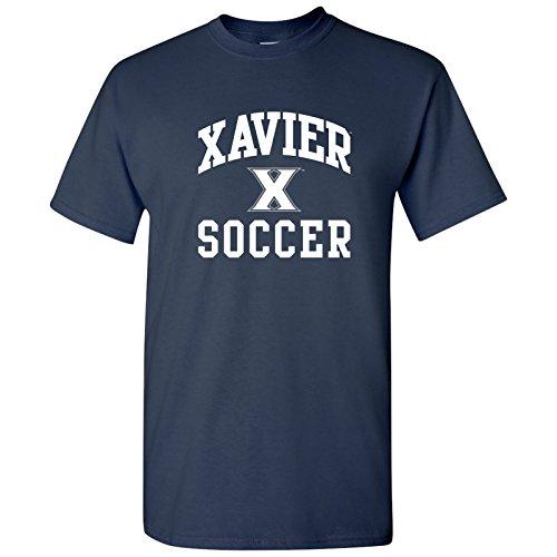 UGP Campus Apparel AS1101 - Xavier Musketeers Arch Logo Soccer T Shirt - Medium - Navy