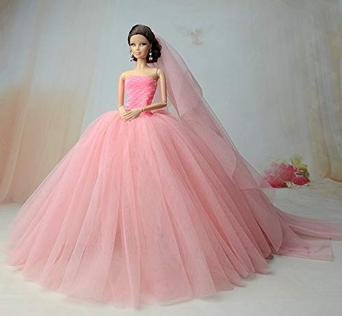 (BANL Dolls Accessories - Doll Clothes for Barbie Princess Wedding Dress Noble Party Gown for Barbie Doll Fashion Design Outfit Best Gift for Girl' Doll 1)