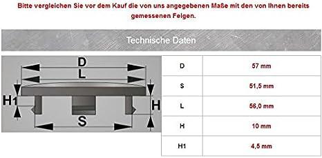4x Nabenkappen 57 Mm 51 5 Mm Nabendeckel Für Universal Auto