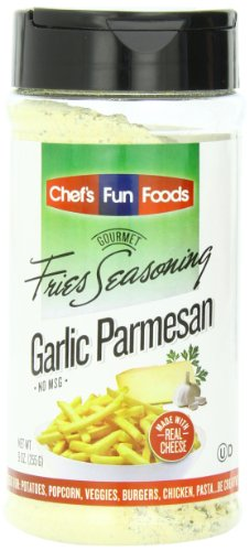 Gourmet Fries Seasonings Bottle, Garlic Parmesan, 9 Ounce