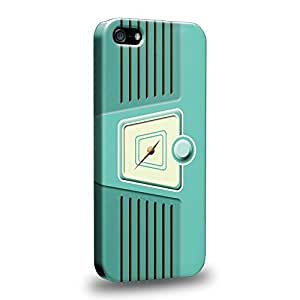 Case88 Premium Designs Turquoise RADIO 0800 Protective Snap-on Hard Back Case Cover for Apple iPhone 5 5s