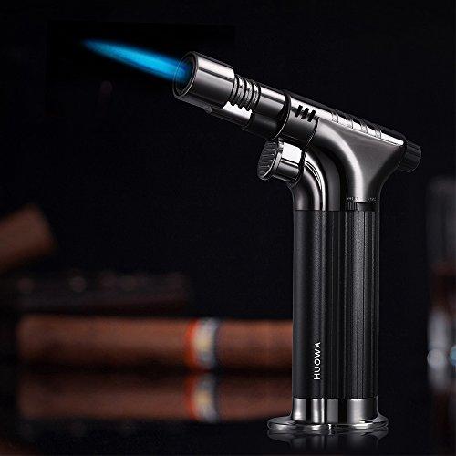 Jet Torch Cigar Lighter, Super Focus Flame Lockable Windproof Butane Refillable Cigarette Lighter, Elegant Gift Ideas