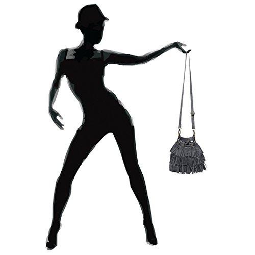 Para Fashion Mujer Caspar Bolso Gris Asas De fIOOdq