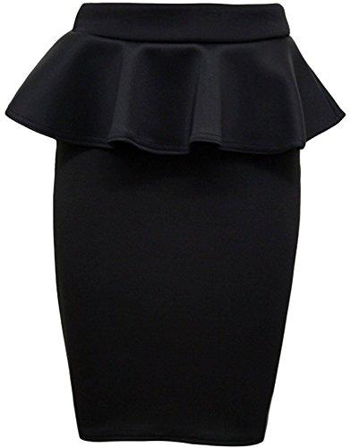 crayon Plus Femmes Size Jupes Peplum 36 Black 50 Jupe moulante Nouveau q7x1BO0w