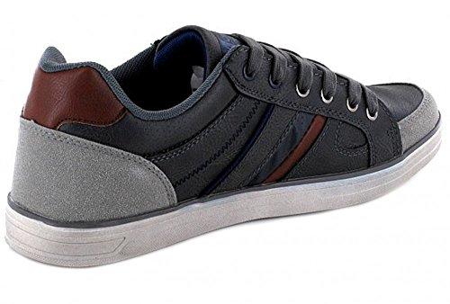 LONGO Montega Herren Halbschuh Sneaker Sportlich Grau mit Frontschnürung