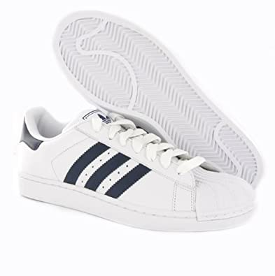 Adidas Superstar 2 White Navy Youth Trainers Size 3 UK  Amazon.co.uk  Shoes    Bags d2faf81b1ae9