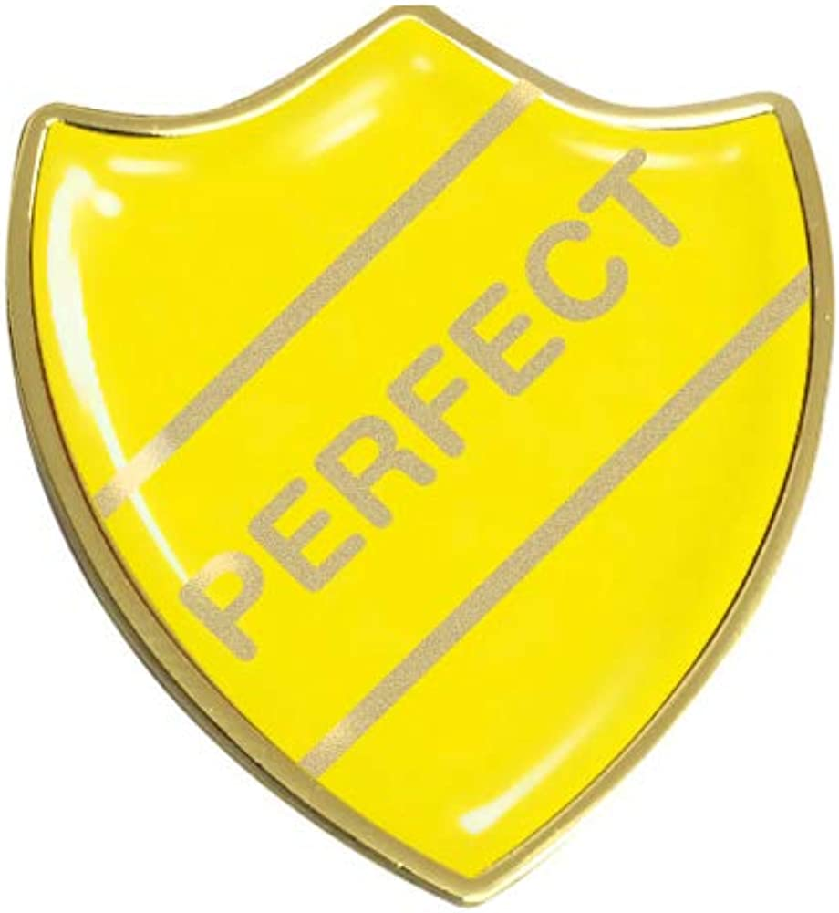 Capricornone Perfect Comedy Gel Domed School Shield Badge