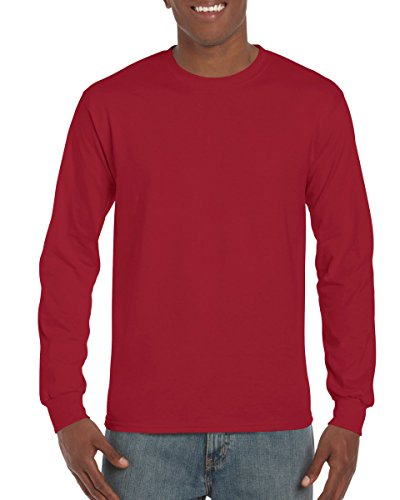 Gildan 2400 - Classic Fit Adult Long Sleeve T-shirt Ultra Cotton - First Quality - Cardinal Red - 2X-Large - Adult Cardinal Red T-shirt