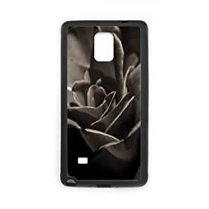 Samsung Galaxy Note 4 Case, black rose macro Case for Samsung Galaxy Note 4 Black