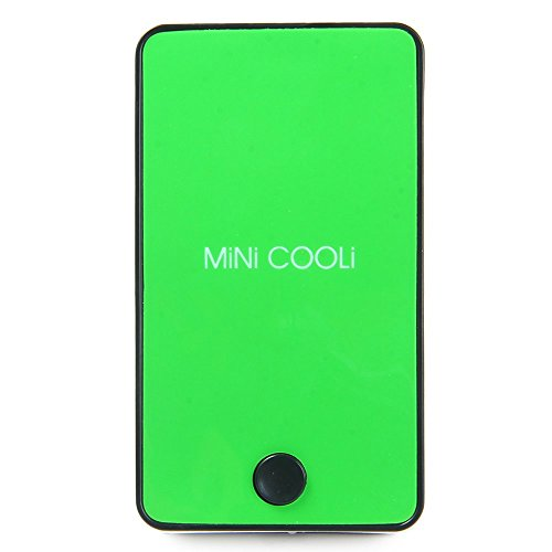 Wooboo Mini Cooli Portable USB Rechargeable HandHeld Air Conditioner Summer Cooler Fan,Batteries Powered No Leaf Fan for Kids (Green) by Wooboo (Image #4)