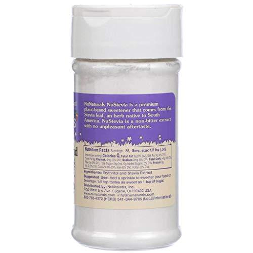 NuNaturals NoCarb Blend Powder All Purpose Natural Sweetener, Sugar-Free, Zero Calorie (2.75 oz) by NuNaturals (Image #2)