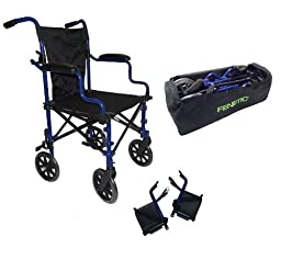 Elite Care Super Lightweight Folding Transport Travel Wheelchair in a Bag ECTR05