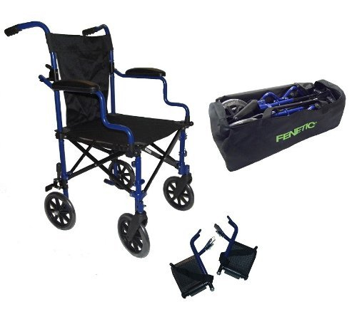 Elite Care Super Lightweight Folding Transport Travel Wheelchair in a Bag ECTR05