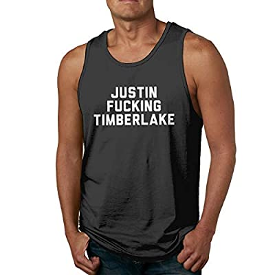 LIZDXTAS Justin Fucking Timberlake Casual Vest,Fashion Summer Cool T Shirt for Men