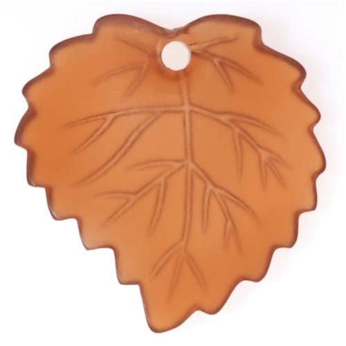 Beadaholique Lucite Aspen Leaves Smokey Quartz Brown Light Weight 16mm (Aspen Leaf Beads)