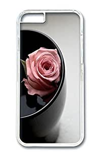 iPhone 6 Case, Custom Design Covers for iPhone 6 PC Transparent Case - Water Rose