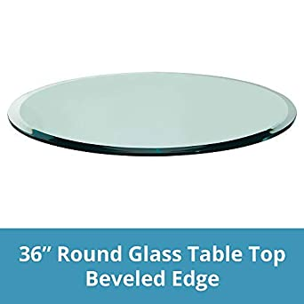 Amazon Com Round Glass Table Top Custom Annealed Clear Tempered