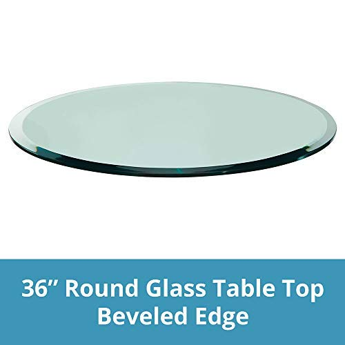 36' Round Glass Top Table - Glass Table Top: 36'' Round, 1/4