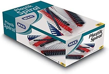 Kunststoff Plastikbinder/ücken A4 95 Blatt 12 mm 100 St/ück,Weiss Spiralbinder/ücken