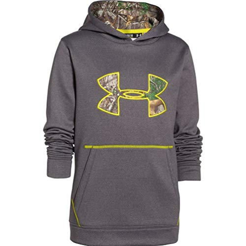 - Under Armour Boys' Youth Storm Caliber Hoody, Carbon Heather, X-Large