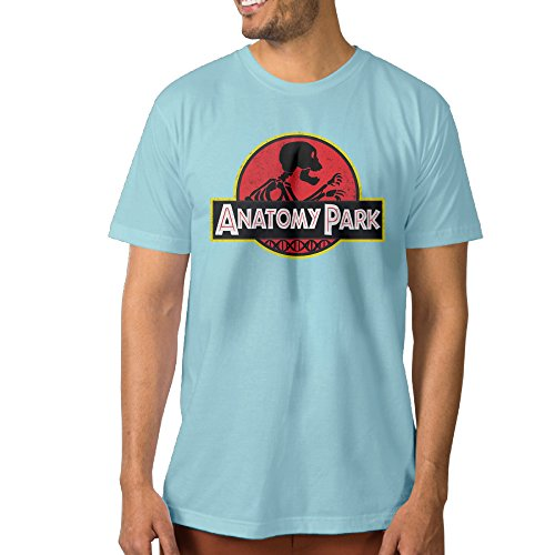 Show Time Men's Park Rick And Morty Short Sleeve New Style Tshirt SkyBlue 3X