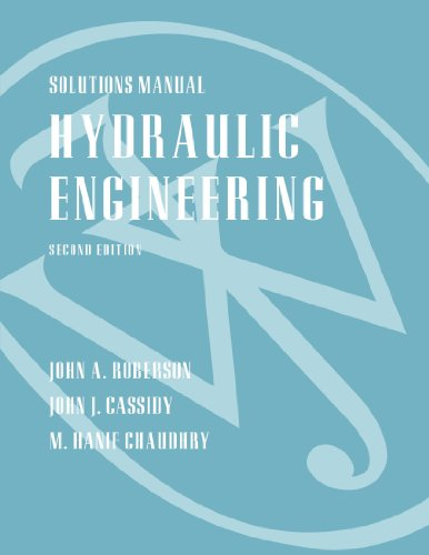 Solutions manual Hydraulic Engineering