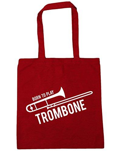 Tote litres Beach HippoWarehouse to Shopping Red Bag Gym x38cm Born 10 Trombone Classic 42cm Play qII7wr