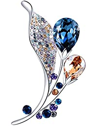 Brooch Pins for Women,Rhinestone from Swarovski Crystal Jewelry Brooches for Birthday Valentine Gifts