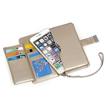 best service 01d98 ff93b TopAce Doro 8030 Case, Premium PU Protective Leather Case / Flip Case /  Wallet Case for Doro 8030 (Gold)