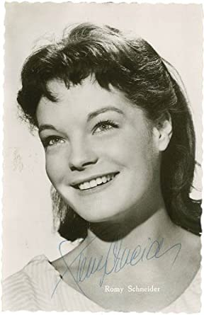 Romy Schneider Picture Post Card Signed At Amazon S Entertainment Collectibles Store